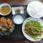 台湾料理 夏 - 定食  青椒肉絲