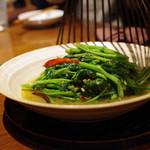 蓮香 -  空芯菜、傣族板豆豉の強火炒め