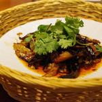 蓮香 - 茄子、自家製干し肉、発酵唐辛子の麻婆茄子風