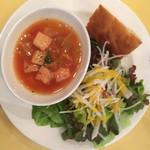 ラ・ベットラ・ペル・トゥッティ - ランチプランBのサラダとスープ
