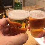 108889875 - 黒ラベルとハートランドで乾杯〜〜(╹◡╹)