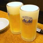 鉄板あさひ - 生ビール