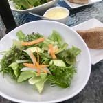108893814 - 無農薬の野菜のサラダ。                       自家製レモンドレッシングとバルサミコで頂きました。