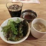 冨田書店 - サラダ・スープ・ドリンク