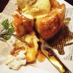 PARADISE CAFE MODERNS - 黒蜜・トーストにトッピングでホイップクリーム+バニラアイスはヤバです!!!激ンマです!!!