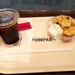 ポンパドウル - モーニングセット(フレンチトースト・アイスコーヒー)
