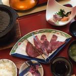 みほり峠 - 料理写真:鉄板牛たん刺身セット1490円