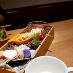 ツミキ - 前菜の盛り合わせ&冷製スープ
