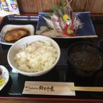 鈴木水産 - あじ姿造り定食890円