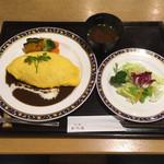 洋食 花乃湯 - 料理写真:オムライス(花乃湯膳)