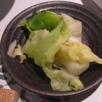 料理屋 仲島 - 白菜の漬け物