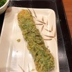 丸亀製麺 - ちくわ磯辺天120円