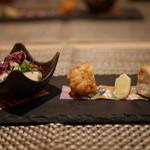 kiwa - 料理写真:河豚の竜田揚げ など