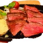 牛みすじステーキの鉄板焼き