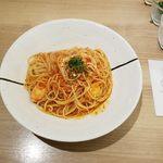 ハシヤ - チキンのトマトソーススパゲッティ大盛全景