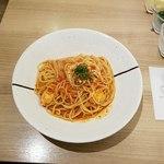 ハシヤ - チキンのトマトソーススパゲッティ 上空から
