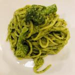トラットリア パスクアリーノ - バジリコスパゲティ  ちょいアップ