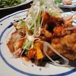 ishiyakinikubanikubenkei - 鶏チリ唐揚げ