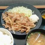 美野里パーキングエリア(下り線)スナックコーナー  - 料理写真:みのりの生姜焼き定食