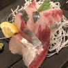 明石八 - 料理写真:縞鰺刺身