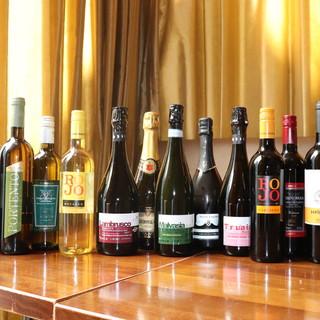 ヨーロッパ産を中心としたこだわりのワイン片手に至福のひと時を