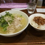 Shintaiki - 鶏しおそば+ミニ魯肉飯