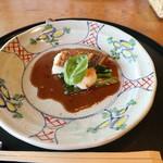 フレンチ松庵 - 鯛とホタテのバルサミコソース