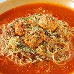パルミジャーノレッジャーノとモチモチ生パスタ チャオ - 【トマトミートソース】じっくり煮込んだトマトミートソースとミートボール