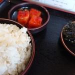 一平ちゃん - クッパ定食♪(先にゴハン・カクテキ・韓国のり)