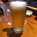 炭火焼肉いち鈴 - 生中ビール(アサヒスーパードライ) 450円×3
