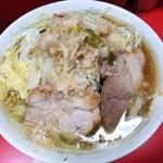 ラーメン二郎 - 料理写真:小ラーメン 麺カタメ ニンニクアブラ 700円