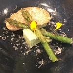 108965203 - ランチ:アスパラの前菜。
