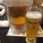 魚 野菜 酒 しゃばらむ - プレミアムモルツです