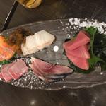 魚 野菜 酒 しゃばらむ - お刺身の盛り合わせです