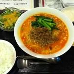 蔓山 - 担々麺のランチセット。