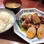 108981361 - ふーみん(豚肉の梅干煮定食)