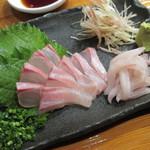 魚虎 - 天然活イシダイ刺 1300円