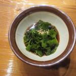 魚虎 - 新物 葉めかぶ 380円