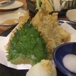 山鳥 - キスの天ぷら 下味の塩加減だけで 十分おいしかった