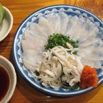 魚虎 - 活)トラフグ刺 1680円