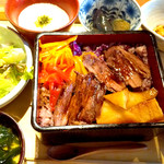 108992446 - 京たけのことお野菜ナムルの牛ステーキ