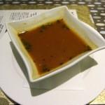 ボンベイ・トーキー - ラッサムスープです 酸味と辛味のきいた南インドのスープです