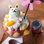 Cafe&Bar ルディック - ピーチベリベリーパフェ氷