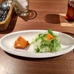 レストラン バー アミューズメント - 鶏胸肉のフリカッセランチ1,000円の前菜