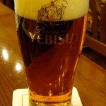 Biyahoruraion - 琥珀ヱビス グラス 740円