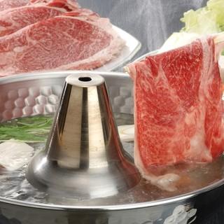 """厳選された上質な""""松阪牛""""を、しゃぶしゃぶやすき焼きでどうぞ"""