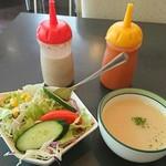 インドのライオン - サラダとスープ