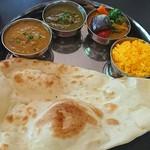インドのライオン - 3食カレーセット  キーマ、ほうれん草、野菜カレー
