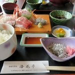海花亭 - おさしみ定食¥2160