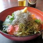 海花亭 - 生しらす丼¥1080